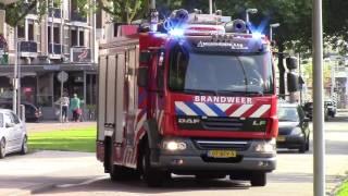 Prio 1 brandweer Mijnsherenlaan 17-3431 rukt met spoed uit naar een gaslucht/lekkage in Rotterdam