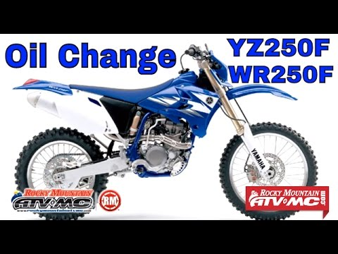 Yamaha YZ250F and WR250F Oil Change Instructions