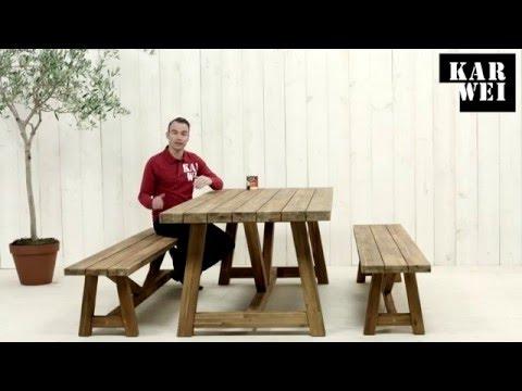 Tafel Steigerhout Karwei.Karwei Cascia Tuintafel En Tuinbanken Youtube