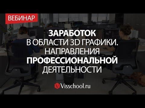 Заработок в области 3D графики. Направления профессиональной деятельности.