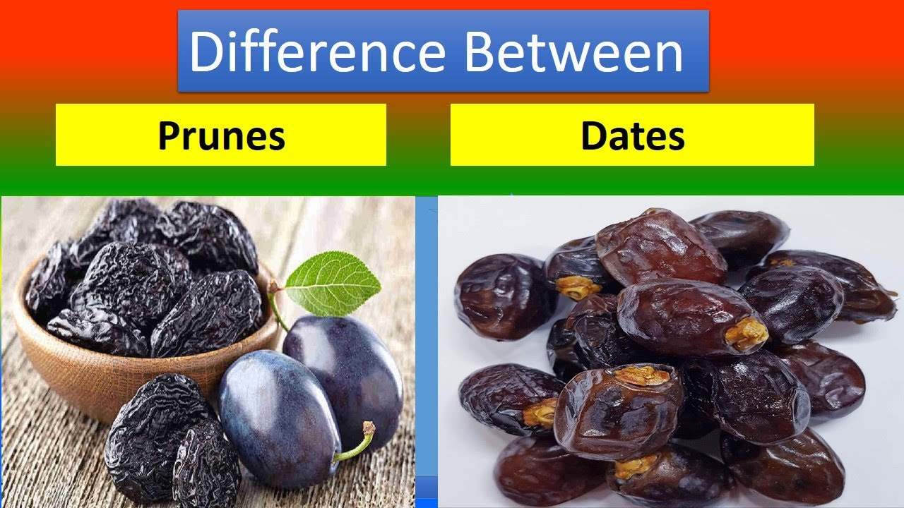 Difference Between prunes and dates