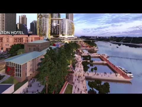 The new Queens Wharf Brisbane