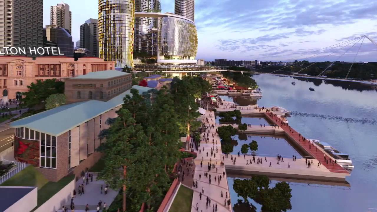 Queens Wharf Brisbane Video