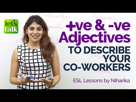 Adjectives to describe your colleagues – Business English
