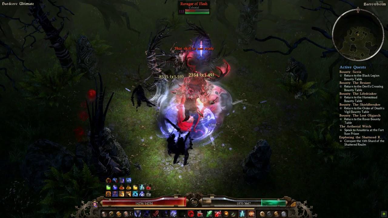 [HC Ult] Blademaster vs Ravager of Flesh v1 1 3 0 by abomi nable