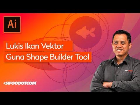 Tutorial Illustrator: Shape Builder Tool (Shape Ikan)