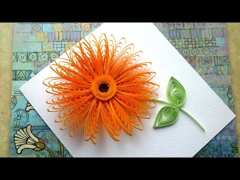 Quilling Flowers Tutorial: Quilling flowers wiht  a comb tutorial. Quilling art.