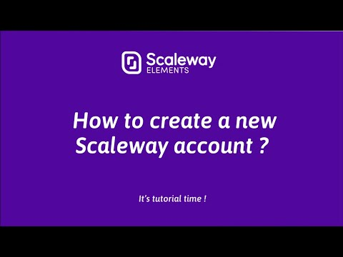 Cloud Computing Tutorial for Beginners | How to create a Scaleway account | Scaleway Elements thumbnail