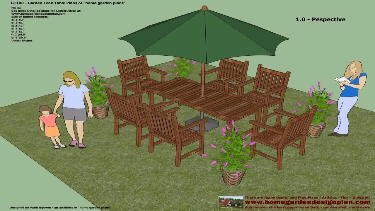 Free Wood Patio Table Plans Youtube