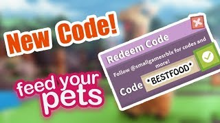 [CODE]🐱Feed Your Pets   NEW FOOD CODE!🍔   Roblox