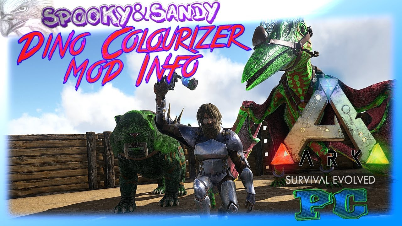 ark info dino colourizer mod lets show test