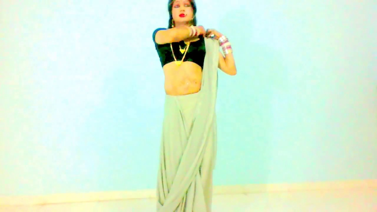 to wear - How to saree wear below navel video video