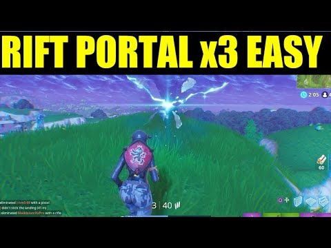 Use A Rift Portal How To Use 3 Rift Portals In A Single Game All Rift Portal Locations In Fortnite