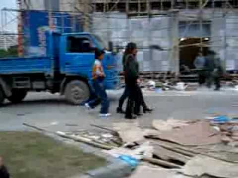 A pickpocket thief in Hanoi, Vietnam