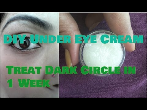 DIY HOMEMADE UNDER EYE CREAM for DARK CIRCLES, Puffiness, Wrinkles in Hindi आंखों के नीचे काले घेरे