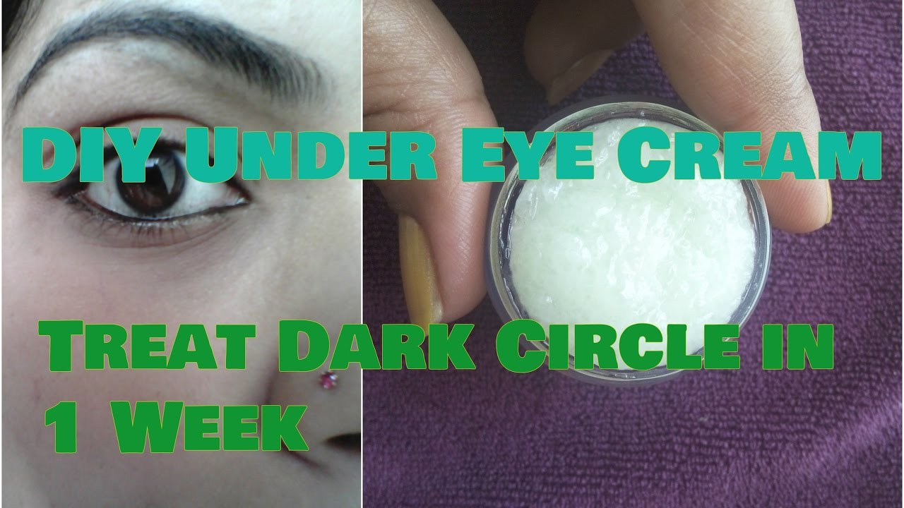 Diy Homemade Under Eye Cream For Dark Circles Puffiness Wrinkles