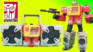 Transformers Blaster Generations Titans Return and Twin Cast stop Soundwave!