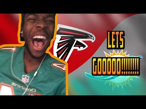 SHOCK THE WORLD!!! DOLPHINS FAN REACTS TO MIAMI DOLPHINS AMAZING COMEBACK VS FALCONS!!!! 10/15/17