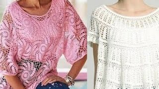 Женские туники крючком со схемами - Womens Crocheted Tunics With Patterns