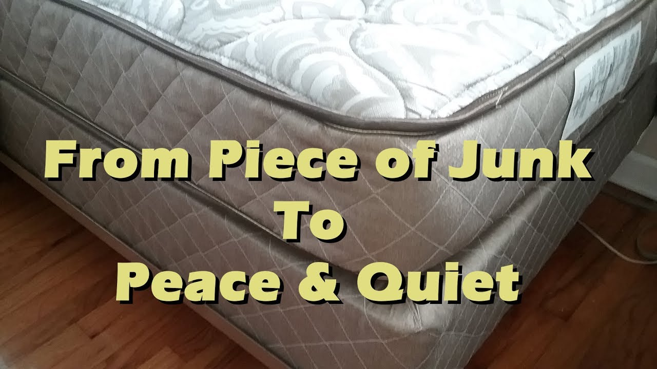 Quieting A Noisy, Squeaky Bed Box Spring