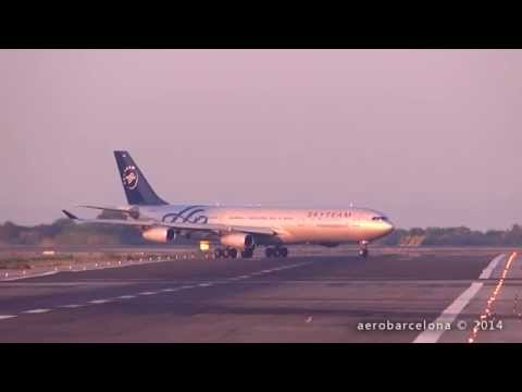 Caught on Camera: NEAR MISS, GO AROUND at Barcelona Airport