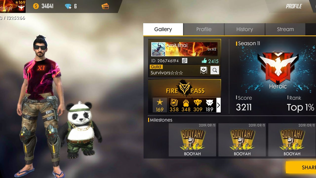 Heroic Today Garena Free Fire Live Desi Gamers