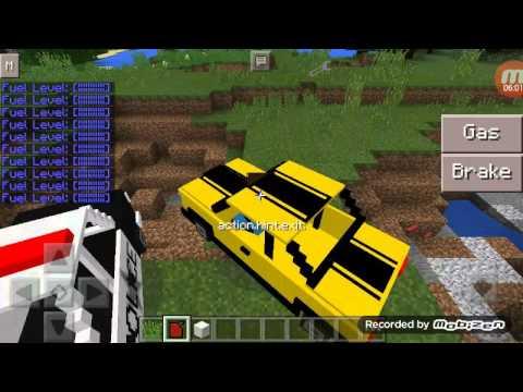 Minecraft mod รถแข่ง