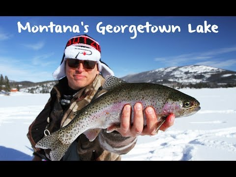 Ice Fishing Montana's Georgetown Lake