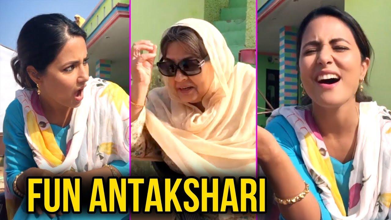 3 23 Mb Hina Khan Plays Antakshari With Farida Jalal On Sets Of Her