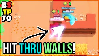 CARL HITTING THRU WALLS GLITCH! Top Plays in Brawl Stars #70