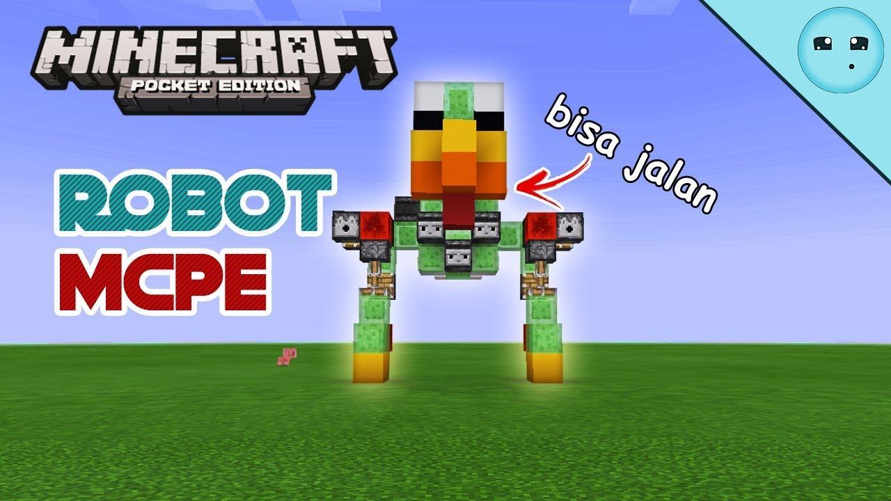 Membuat Robot Bisa Bergerak Di Minecraft Pe Youtube