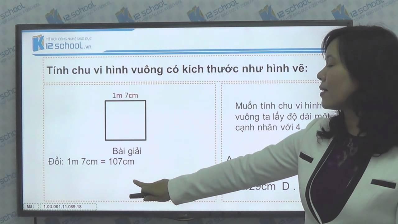 [Toán tiểu học][Toán 3, Toán lớp 3] – Giải toán chu vi hình vuông – [Lika-K12school]