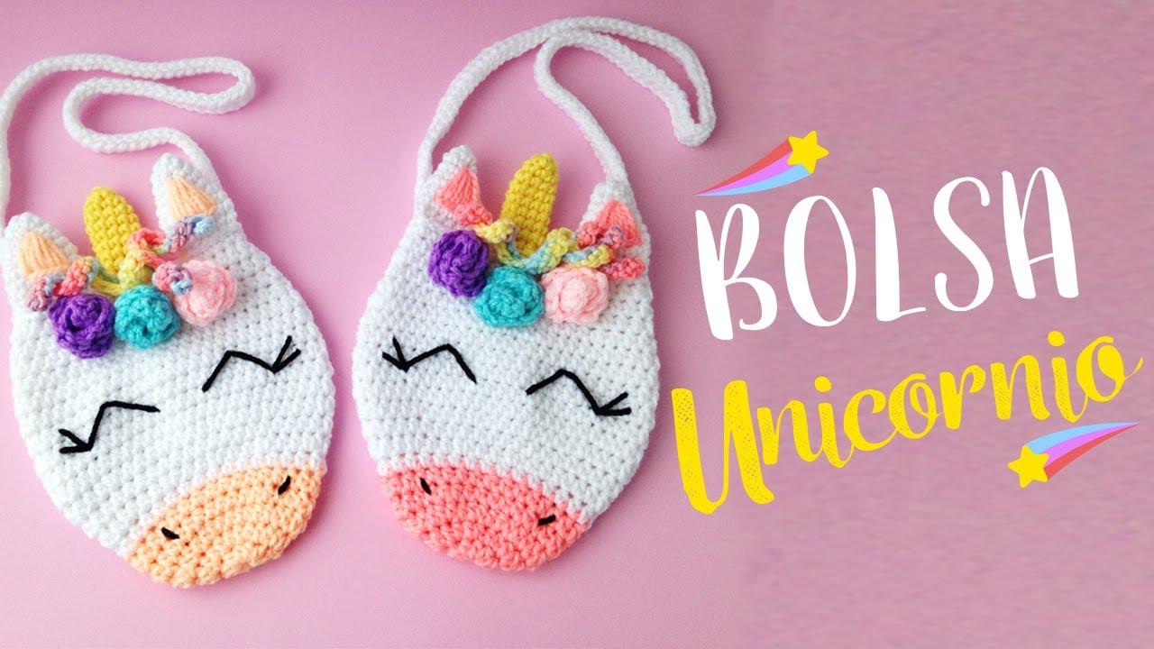 encontrar el precio más bajo mejor venta auténtica venta caliente Bolsa Unicornio A Crochet