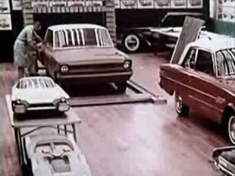 1960s Vintage Ford Motor Company Film - Styling and the Experimental Car - CharlieDeanArchives