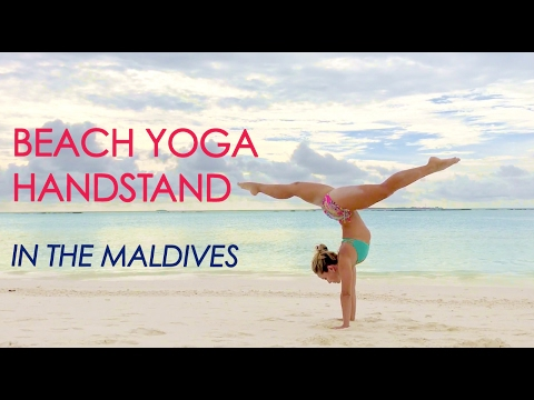 How to Do a Beach Yoga Handstand in the Maldives