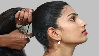 How to do Beautiful Braid for long hair | Party Hairstyle | Easy Puff hairstyle | Hair style girl