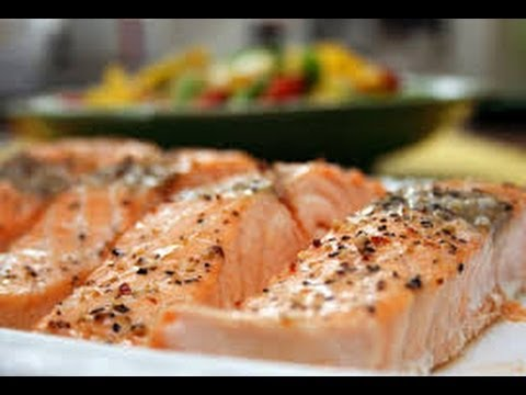 Receta de salm n al horno youtube for Como cocinar salmon