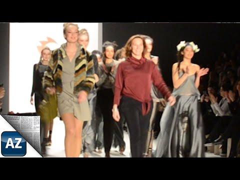 Anja Gockel auf der Fashion Week