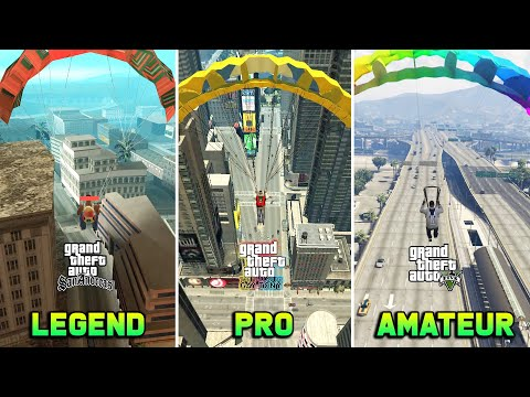 Parasut GTA SA vs GTA TBOGT vs GTA 5  