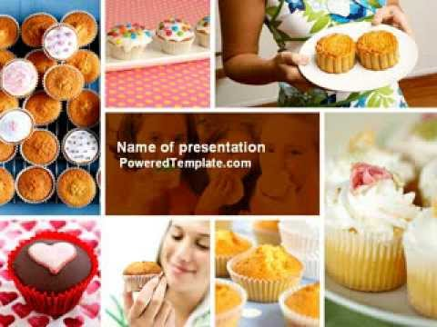 cupcakes powerpoint template by youtube. Black Bedroom Furniture Sets. Home Design Ideas