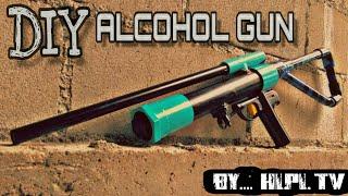 DIY ปืนแอลกอฮอล์ ตัวยาว แบบง่ายๆ(Alcohol gun) #เล่นเพื่อความบันเทิงเท่านั้น