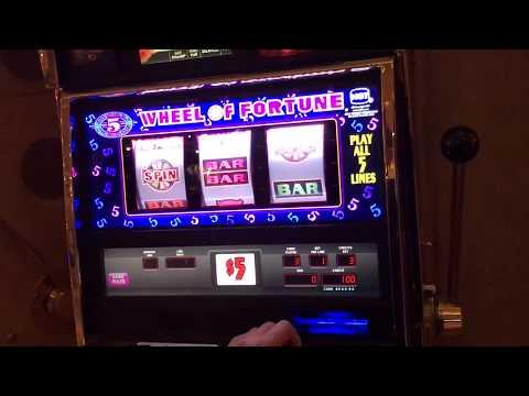 High Limit Wheel of Fortune Slot Machine Game Play Bonus as it happens