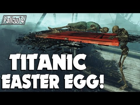 Fallout 4 Far Harbor: Titanic Reference Easter Egg, and Exploration in the Water Around it!