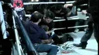 MMA Fighter attacks referee, referee fights back!