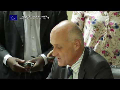 Signature ECOFAC6 ANPN/Union européenne Gabon le 5 juillet 2017 à Libreville