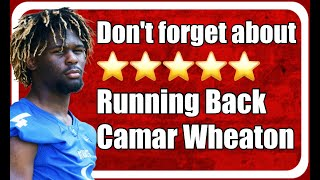 Don't Forget About Five-star Running Back Camar Wheaton | Alabama Crimson Tide Football | SEC News