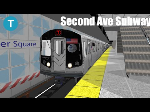 OpenBVE Simulator- Second Ave Subway R160B (T) to Hanover Square Gameplay