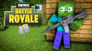 Monster School Fortnite Battle Royale Challenge Minecraft Animation