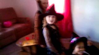 "Three little ""witches"" put a spell on their cousin"