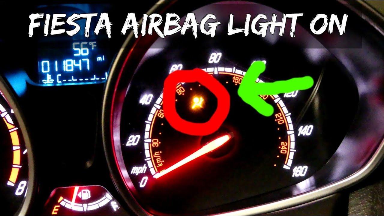 FORD FIESTA B1414 FAULT CODE AIR BAG LIGHT ON